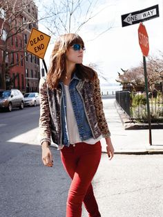 Rose Byrne looking fly.  I really need a jean jacket.