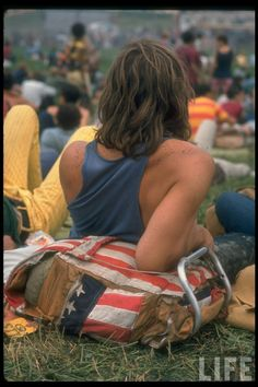 Woodstock, August 1969    I wish I was alive back then.  I'd totally be a hippie.