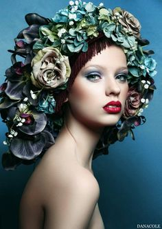 Flowered Fashion~Couture Headpiece. You Can Do It 2. http://www.zazzle.com/posters?rf=238594074174686702