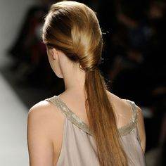 Wrapped ponytail.