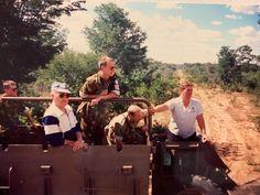 Members of UNTAG Finnbatt on Buffel for a joyride.  202 Battalion, SWATF, Rundu 1989 South Africa, Weapons, African, Military, Couple Photos, Weapons Guns, Couple Shots, Guns, Firearms