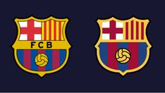 Previous logo (left) VS new logo (right). Images via Wikimedia Commons and FC Barcelona The classic FC Barcelona badge might see the end of its days soon. The soccer club is planning to give its … Visual Identity, Brand Identity, Fc Barcelona Wallpapers, Order Of The Day, Old Logo, Logo Reveal, Logo Design, Lettering, Stamps