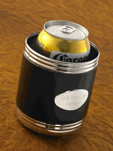 This custom engraved can koozie makes a great groomsman gift idea or man gift! http://partyblock.stores.yahoo.net/customkoozie.html