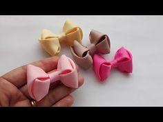 New Crochet Flowers Headband Baby Ideas Ideas Ribbon Hair Bows, Diy Hair Bows, Diy Bow, Diy Ribbon, Ribbon Work, Crochet Flower Headbands, Diy Headband, Baby Headbands, Crochet Flowers