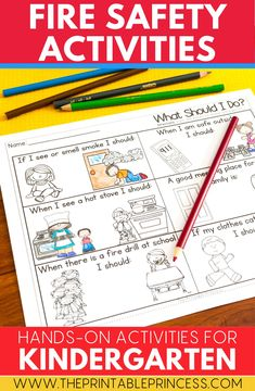 Use this fire safety activities in your math and literacy centers! Students will love learning to stop, drop and roll to keep themselves safe at home and at school! Easy to print and add to literacy centers or use whole group! Kindergarten and first grade students will love this hands on activity!