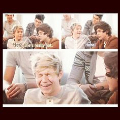 harry talking about caroline of course but this is my favorite face Niall has ever made.