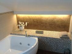 Abitazione privata #illuminazione #bagno #veletta #cartongesso #LED #Ligting #Design