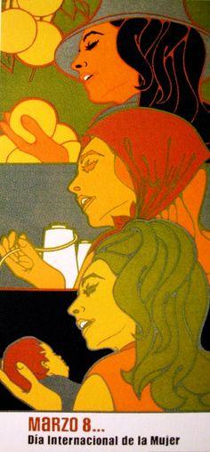 """March 8…International women's day"" Cuban poster 1971"