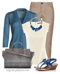 """blue brown"" by oxigenio ❤ liked on Polyvore featuring J Brand, NIC+ZOE, H&M, Janna Conner, Alexander Wang, Tory Burch and bluebrown"