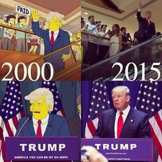 Trump for President? Simpsons did it first.