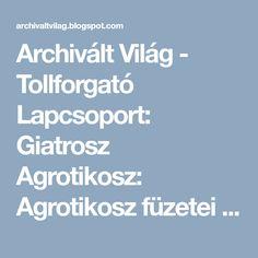 Archivált Világ - Tollforgató Lapcsoport: Giatrosz Agrotikosz: Agrotikosz füzetei 1. - E-book