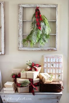 Craftberry Bush | Using Wrapping Paper in your Christmas Decor and a Giveaway | http://www.craftberrybush.com