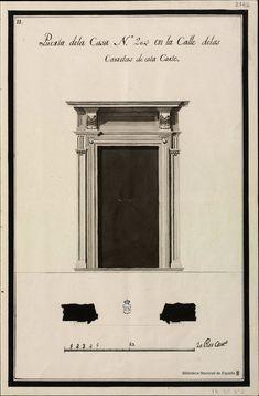 [Álbum con  dibujos arquitectónicos de portadas y altares]. Anónimo español s. XVIII — Dibujo — 1770?