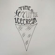 #handletteren #illustratie #handlettering #illustration #ijs #icecream