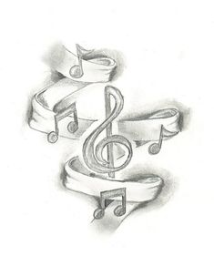 This Music Tattoo Design Is The First Sketch Of What S Bound To Become