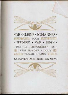 """De luxe uitgave (derde druk) van De kleine Johannes met een stofomslag. Voor de omslag is het """"libellen-ontwerp"""" van de  titelpagina gebruikt. Ik heb een dergelijke omslag nooit in handen gehad. Ook in de literatuur is die onbekend."""