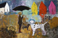 "Raining Sunshine - 36"" x 24"" Shelley Hopkins"