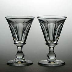 Rare Pair of Heavy Deceptive Glass Rummers Art Nouveau, Vintage Style, Vintage Fashion, Antique Glassware, Table Scapes, Glass Collection, Caves, Drinkware, 19th Century