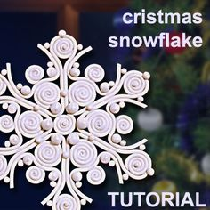 *SNOWFLAKE ~ Polymer Clay in filigree technique   ClayLessons.com