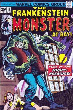 Frankenstein Monster # 14 by Ron Wilson & Klaus Janson Rare Comic Books, Comic Books For Sale, Vintage Comic Books, Vintage Comics, Comic Books Art, Comic Art, Book Cover Art, Comic Book Covers, Book Art