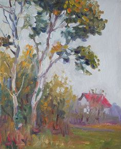 "Warm Autumn, oil on board, 30 x 24 cm, (12"" x 9""), $ 550"