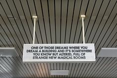 echoes of voices in the high towers - by British artist Robert Montgomery