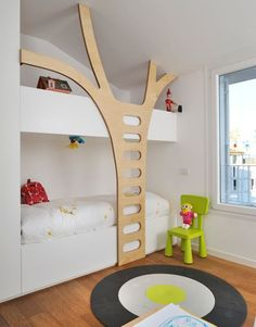 such a cool modern bedroom / playroom for the kids!