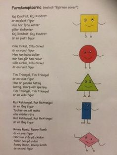 lek med geometriska former Math For Kids, Diy For Kids, Learn Swedish, Swedish Language, Math Measurement, Montessori Materials, Working With Children, School Hacks, Worksheets For Kids