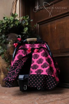 Carseat Canopy w/ Zippered Opening! Only on Etsy! :)