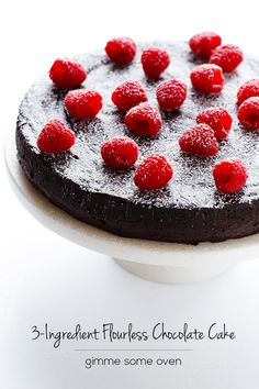 A decadent, gluten-free flourless chocolate cake recipe with no added sugar necessary!