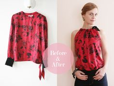 Refashionista: Sleeves into blouse (tutorial)