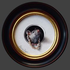Petite souris 55 - Marina Dieul - check out her website for all her mice portraits.....they are wonderful...plus all the other delights....