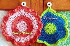 Daisy Wheel and Primrose Dishcloths