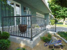 Wrought iron patio railings Patio Railing, Iron Railings, Remodeling Ideas, Wrought Iron, Nature, Deck, Exterior, Outdoor Decor, Design