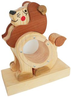 Custom Made Wooden Lion Savings Bank - Holzarbeiten Custom Woodworking, Woodworking Projects, Wooden Piggy Bank, Making Wooden Toys, Wooden Words, Cnc Wood, Small Wood Projects, Wooden Crafts, Wood Toys