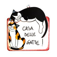gattosa targhetta in legno dipinta a mano, personalizzabile!     www.gattosi.com Cat Decor, Cat Accessories, Cat Jewelry, Pinterest Blog, Cat Gifts, I Love Cats, Cat Art, Wordpress Theme, My Best Friend