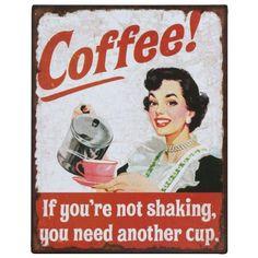 Retro COFFEE Werbeschild Metall Blechschild 25x20 Vintage Kaffee Metallschild                                                                                                                                                                                 Mehr