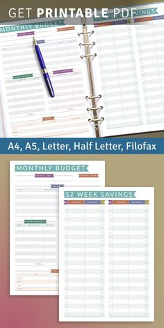 This collection of A5 Diary Templates help you start planning your life more efficiently. Find what works for you, and feel great in the process. Many successful people prefer to use planners to write everything down and plan their lives. Weekly Meal Plan Template, Planner Template, 52 Week Savings, A5 Diary, Diary Template, Monthly Budget, Successful People, Filofax, Budgeting