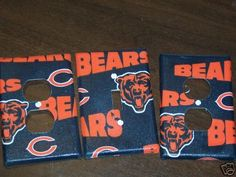 Light Switch Plate/Outlet Covers with Chicago Bears by snazzyetc, $9.99