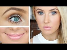Massive lashes, defined brows, flawless skin! - YouTube