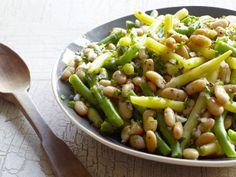 Garden Bean Salad recipe from Food Network Kitchen Food Network Recipes, Cooking Recipes, Healthy Recipes, Ww Recipes, Grilling Recipes, Summer Recipes, Vegetarian Recipes, Recipies, Three Bean Salad