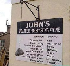 John's easy, do-it-yourself weather forecast. | The 23 Most Painfully Obvious Things That Have Ever Happened