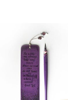 Wuthering Heights violet bookmark with by PemberleyPond on Etsy, €8,00