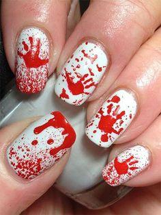 Gory Halloween Nail Designs   15 Spooky Halloween Nails Art Designs & Ideas 2016 JeweBlog