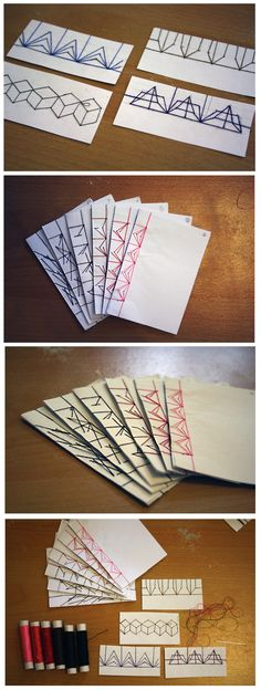 THE BLUNT BIRD Handmade Journals, Handmade Books, Handmade Crafts, Diy Paper, Paper Art, Paper Crafts, Journal Covers, Book Journal, Japanese Stab Binding