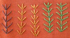 Queenie's Needlework: TAST #134 Fern Stitch