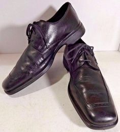 Johnston Murphy 9.5 Mens Shoes Black Leather Derby Oxford Lace Ups Square Toe #JohnstonMurphy #Oxfords