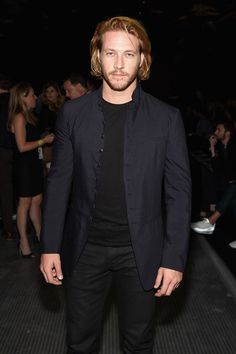 Luke Bracey Photos Photos - Actor Luke Bracey attends the John Varvatos S/S 2016 runway show during New York Fashion Week: Men's at Skylight Clarkson Sq on July 16, 2015 in New York City. - The John Varvatos Front Row at New York Fashion Week