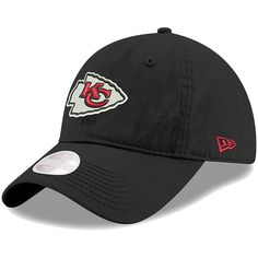 Women s Kansas City Chiefs New Era Black Preferred Pick Secondary 9TWENTY  Adjustable Hat 483d348c9de7