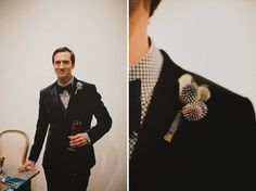 Nick's outfit inspiration: bowtie with thistle boutonniere Hipster Wedding, Wedding Men, Wedding Trends, Our Wedding, Wedding Ideas, Thistle Boutonniere, Purple Boutonniere, Boutonnieres, Groom Attire